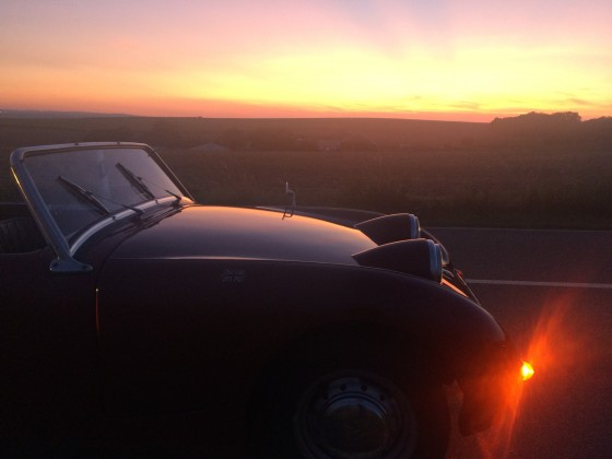 ...fast verschwundene Abendsonne...